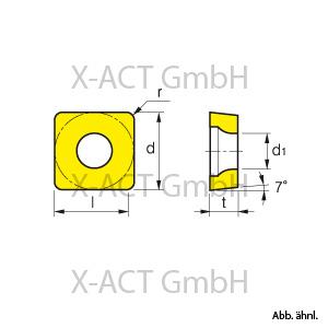 C SCGT 09 T3 04 Wendeschneidplatten ALU zum Drehen 10 Stk