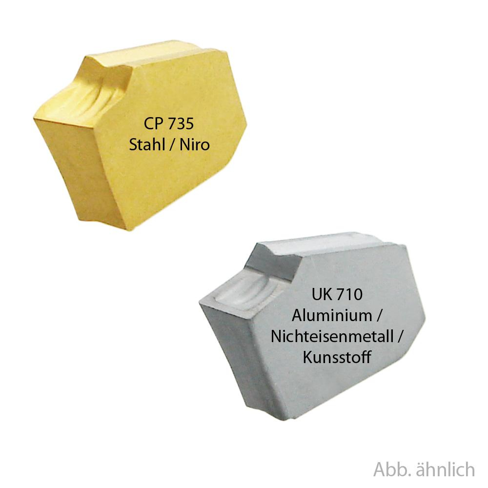 Abstecheinsätze 2,3,4,5mm POW, POWL, POWR, für Stahl oder ALU