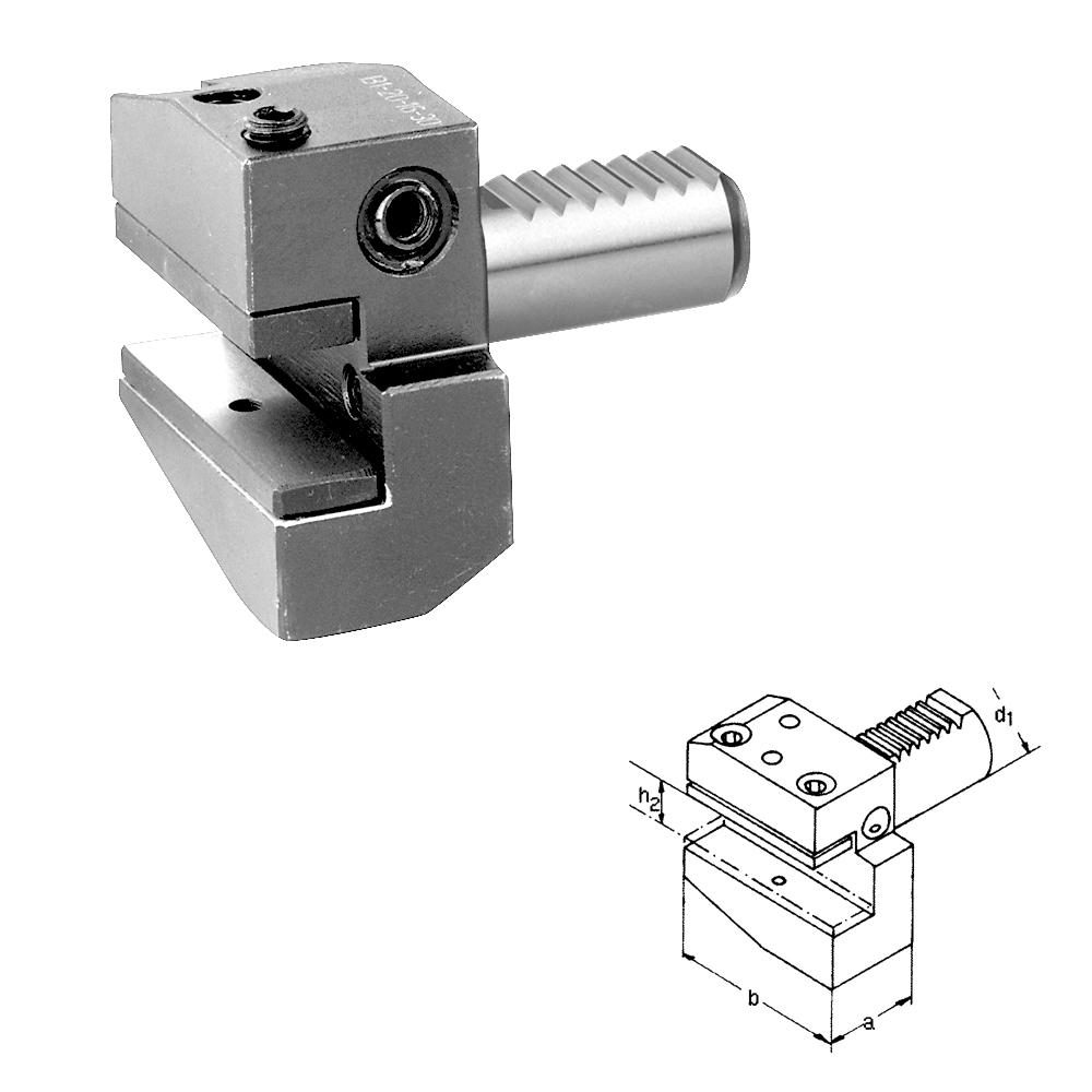 DIN 69880 VDI Werkzeughalter, Typ B1, rechts, kurz, VDI 16 - VDI 60