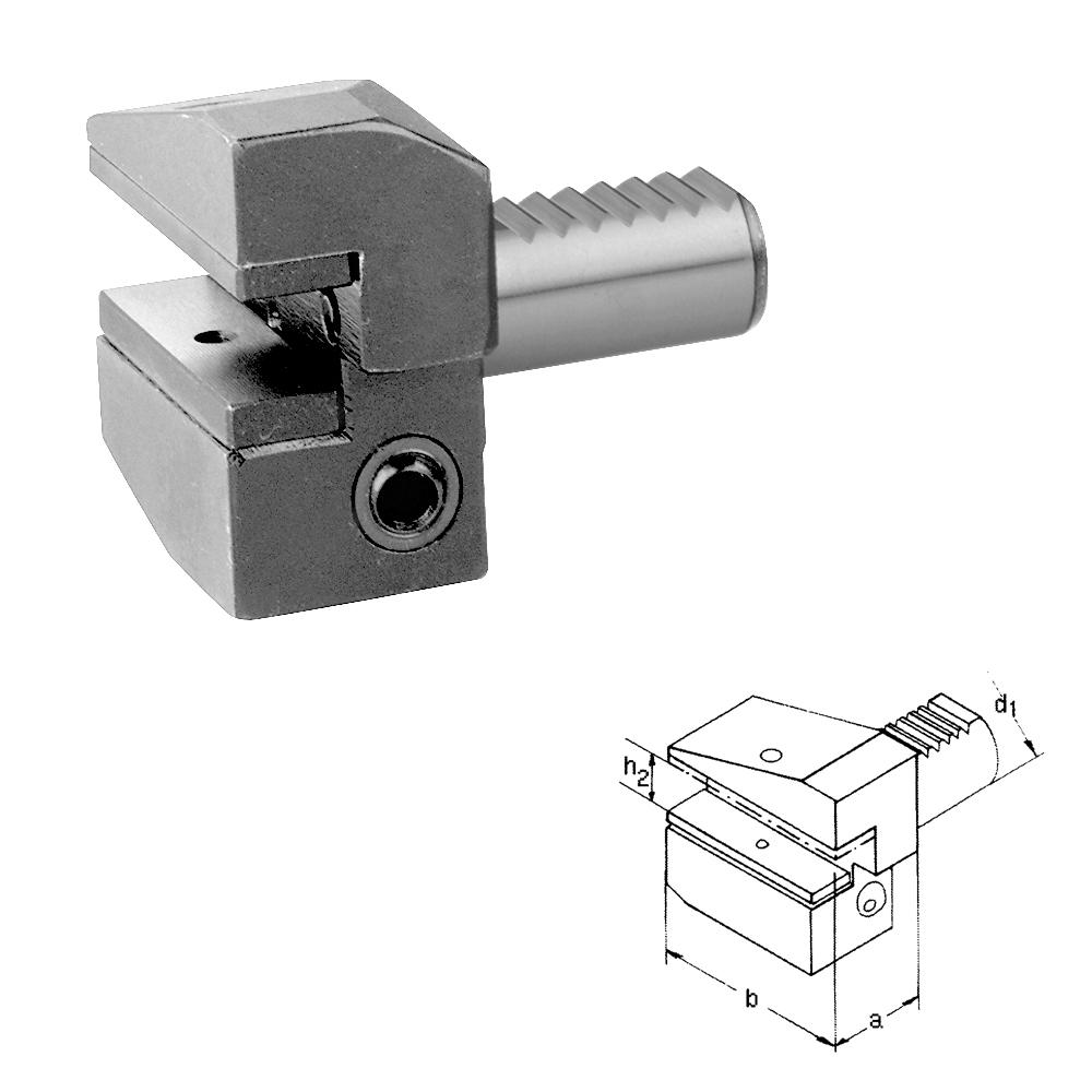 DIN 69880 VDI Werkzeughalter, Typ B3,überkopf, rechts, kurz, VDI16 - VDI60